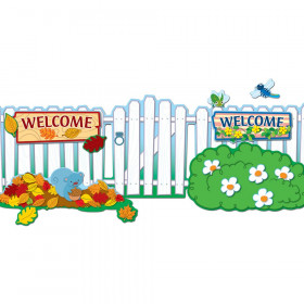 Seasonal Fence Bulletin Board Set