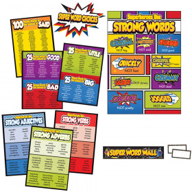 Super Power Super Word Choices Bulletin Board Set