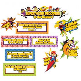 Super Power Decoding Words Mini Bulletin Board Set
