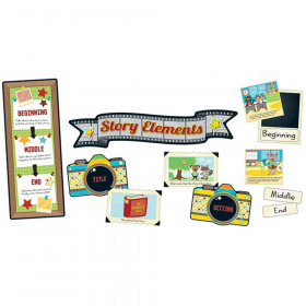 Hipster Story Elements Bulletin Board Set