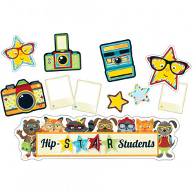 Hipster Hip-STAR Students Mini Bulletin Board Set