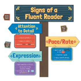 Signs Of A Fluent Reader Mini Bulletin Board Set