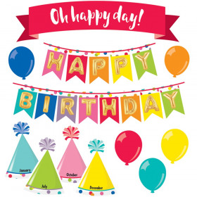 Just Teach Happy Birthday Mini Bulletin Board Set