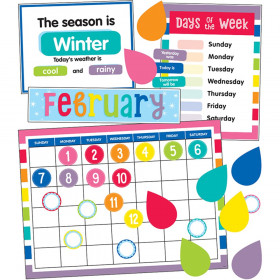 Schoolgirl Style Hello Sunshine Calendar Bulletin Board Set