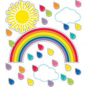 Schoolgirl Style Hello Sunshine Giant Rainbow Bulletin Board Set