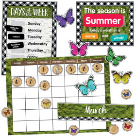 Calendar Bulletin Board Set Woodland Whimsy