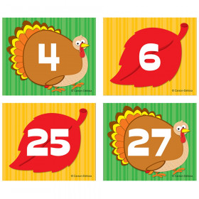 Turkey/Leaf Calendar Cover-Up Cut-Outs, 36 Pieces