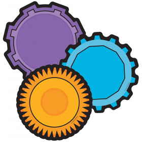 Colorful Cutouts Gears Asst Designs