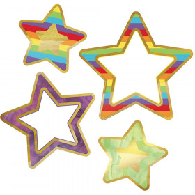 Colorful Cutout Rainbow Foil Stars Designs Assorted