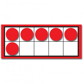 Ten Frames and Counters Colorful Cut-Outs, Grades K-2