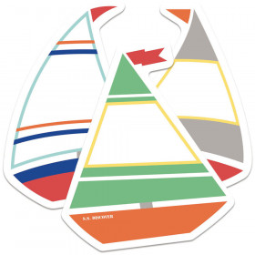 S.S. Discover Sailboats Mini Cut-Outs