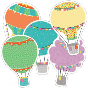 Up and Away Hot Air Balloons Cut-Outs, Pack of 36