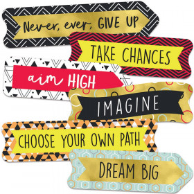 Aim High Banners Mini Cut-Outs, Pack of 56