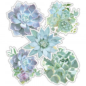 Simply Stylish Succulents Cut-Outs, Pack of 36
