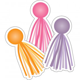 Schoolgirl Style Hello Sunshine Tassels Assorted Colorful Cut-Outs