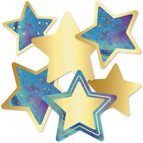 Galaxy Stars Cut-Outs, Pack of 36