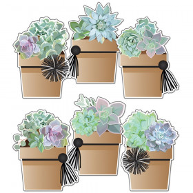 Simply Stylish Potted Succulents Cut-Outs, Pack of 36