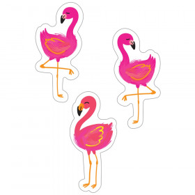 Simply Stylish Tropical Flamingos Cut-Outs, Pack of 36