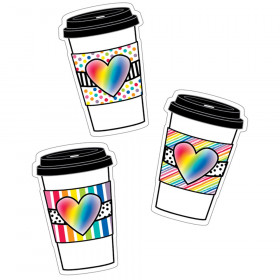 Industrial Cafe Rainbow To-Go Cups Cut-Outs, Pack of 36