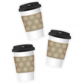 Industrial Cafe To-Go Cup Cut-Outs, Pack of 36