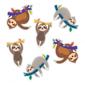 One World Sloths Cut-Outs, Pack of 36