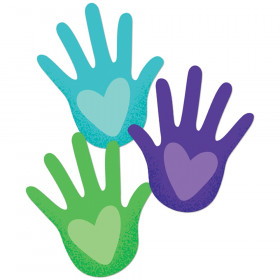 One World Hands with Hearts Cut-Outs, Pack of 36