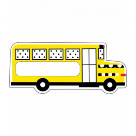 Black, White & Stylish Brights School Bus Cut-Outs, Pack of 36