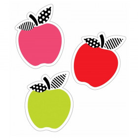 Black, White & Stylish Brights Apples Mini Cut-Outs, Pack of 36