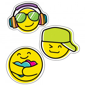Kind Vibes Smiley Faces Cut-Outs, Pack of 36