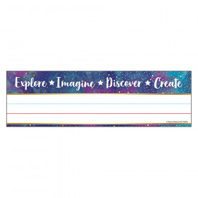 """Galaxy Nameplates, 9.5"""" x 2.875"""", Pack of 36"""