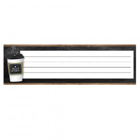Industrial Cafe Nameplates, Pack of 36