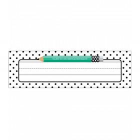 Black, White & Stylish Brights Nameplates, Pack of 36