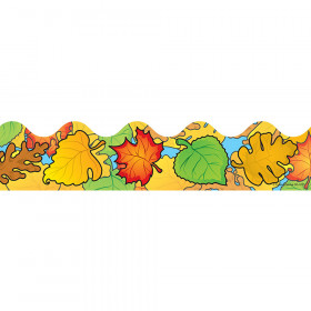 Colored Leaves Scalloped Borders