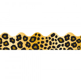 Leopard Print Scalloped Borders