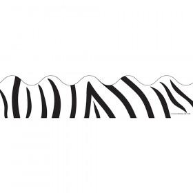 Zebra Print Scalloped Borders