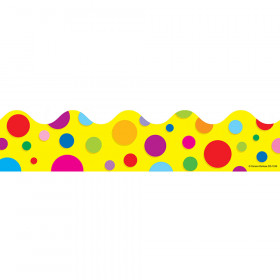 Colorful Dots Scalloped Borders