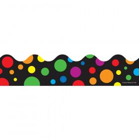 Big Rainbow Dots Scalloped Borders