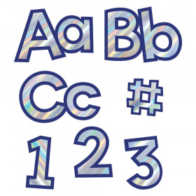 Sparkle + Shine Holographic Silver with Navy Combo Pack EZ Letters, Grade PK-12, 219 Pieces