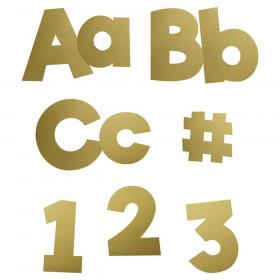 Sparkle + Shine Gold Foil Combo Pack EZ Letters, Grade PK-12, 219 Pieces