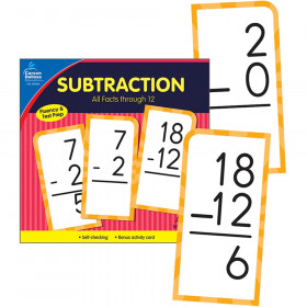 Subtraction All Facts through 12 Flash Cards