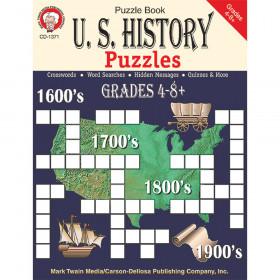 U.S. History Puzzles, Grades 4 - 8