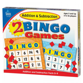 Addition & Subtraction Bingo Board Game, Grade K-2