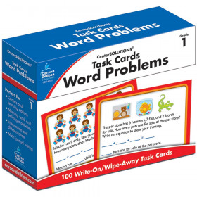 Word Problems Task Card, Grade 1, Pack of 100