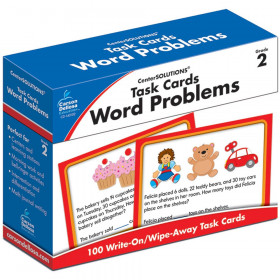 Word Problems Task Card, Grade 2, Pack of 100