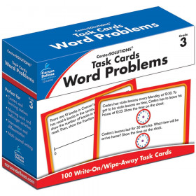 Word Problem Task Card, Grade 3, Pack of 100
