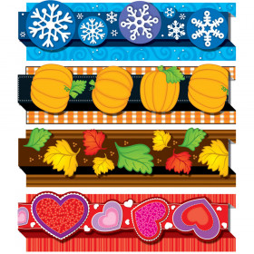 Pop-Its Seasonal Border Set, 4 designs