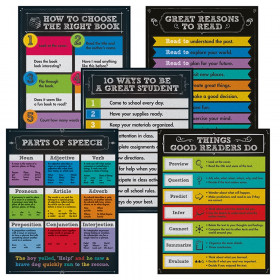 Chalkboard Reading Charts, Set of 5