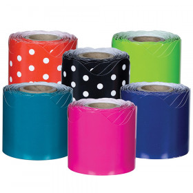 Rolled Scalloped Border Set, Assorted, 6 Rolls