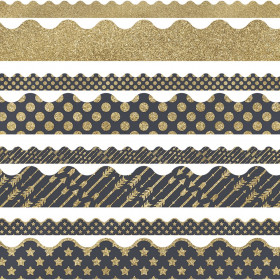 Gold Scalloped Borders Set Sparkle And Shine
