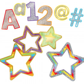 Sparkle + Shine Rainbow EZ Letters and Colorful Cut-Outs Set
